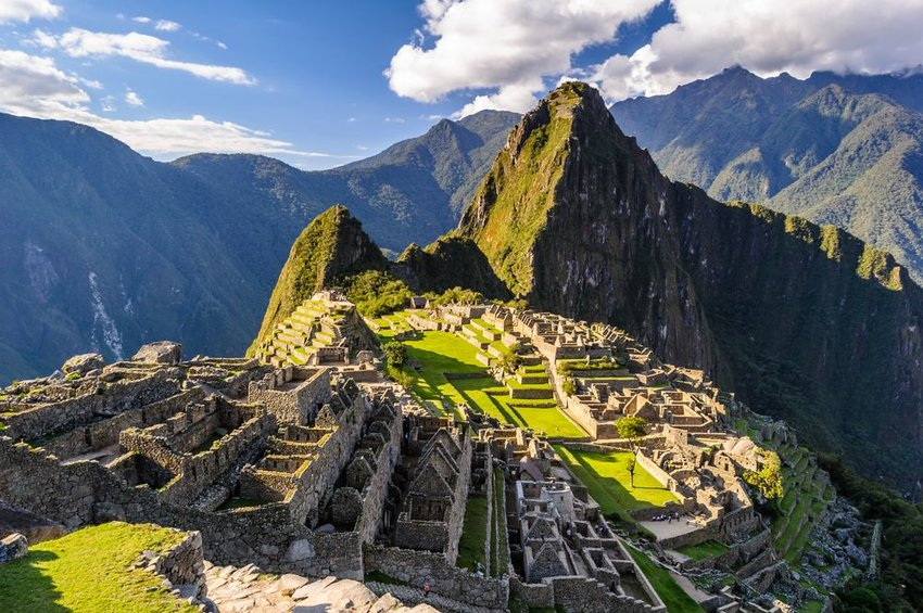 Machu Piccha on a sunny day