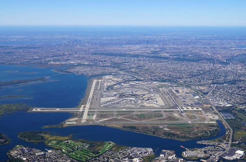 Aerial view of JFK International Airport