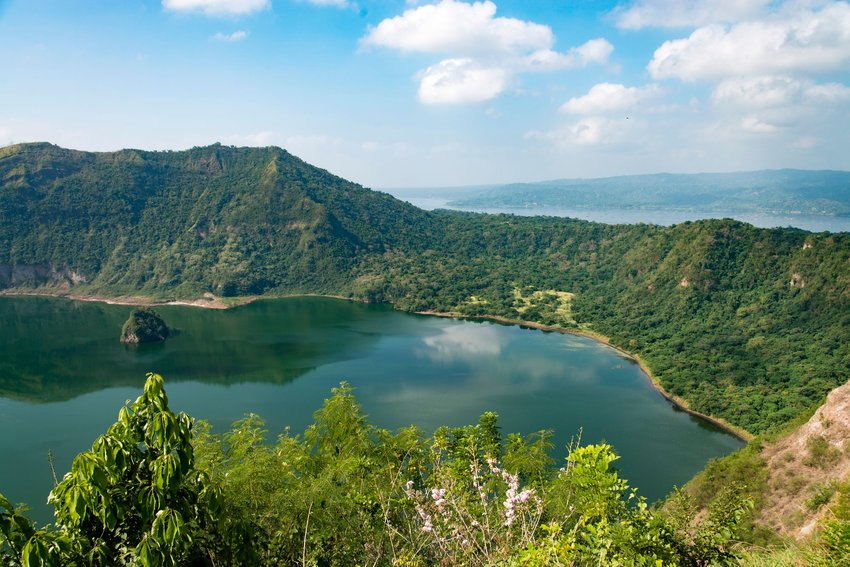 Taal volcano with crater lake in the Philippines