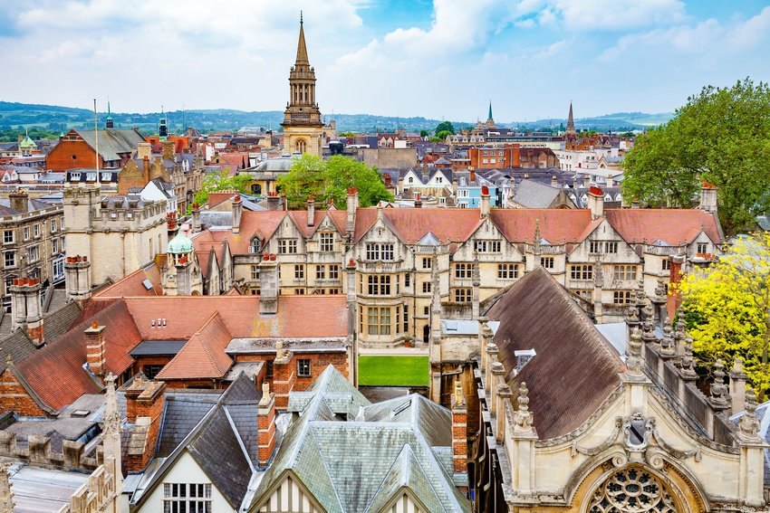 Rooftop view of Oxford, England, during the day