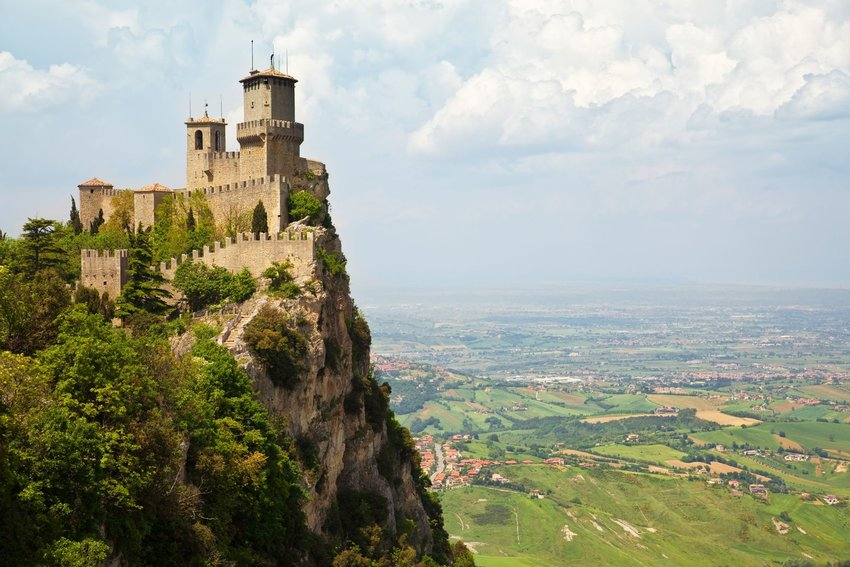 San Marino Castle, also known as Guaita, on Mount Titano