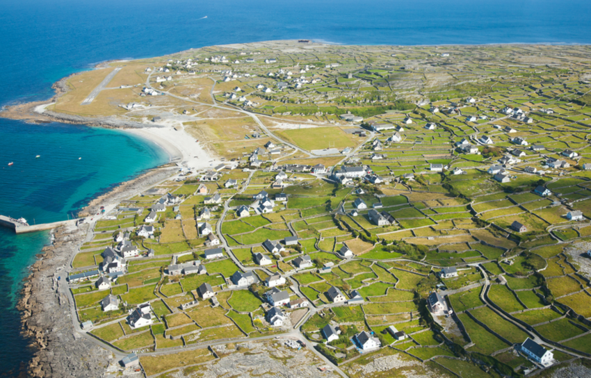 Town on the coast of one of the Aran Islands