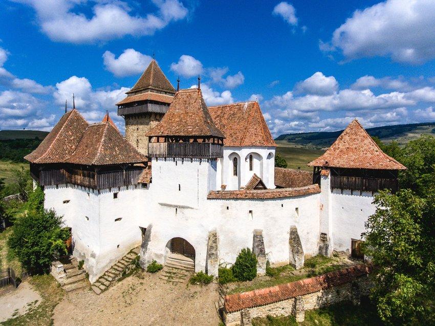 Viscri's church in the traditional village of Viscri, Romania