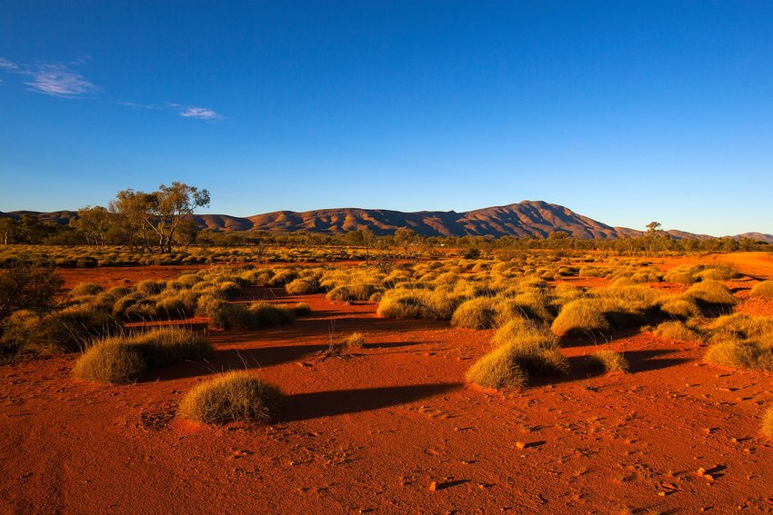 The ground and hills of the West Macdonnell Ranges, Australia