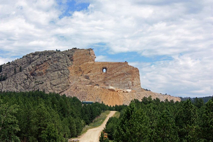 Road with view of Crazy Horse Memorial