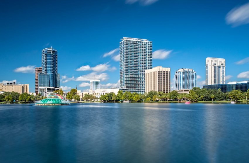 View of Downtown Orlando from Lake Eola