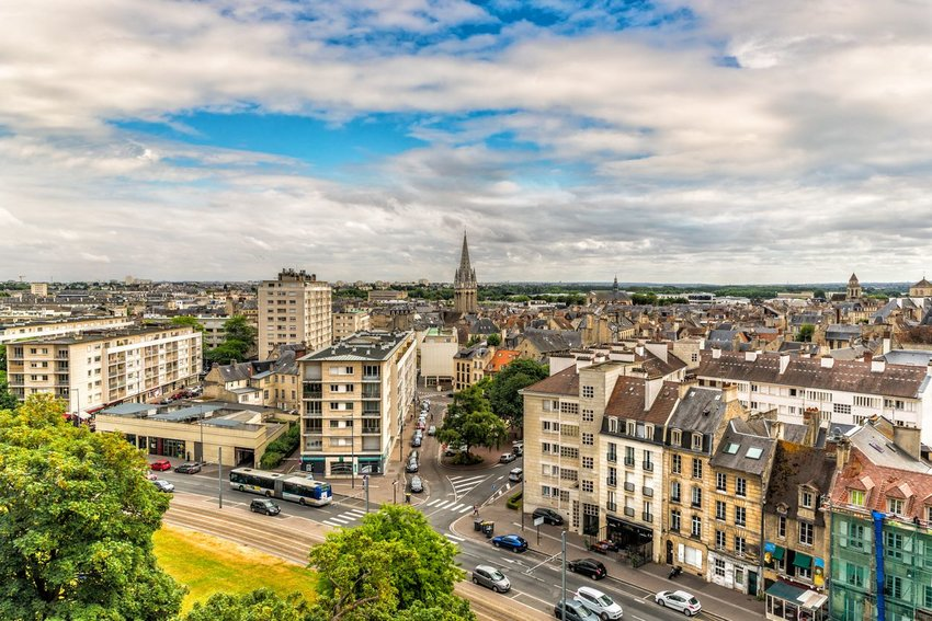 Cityscape of Caen in France