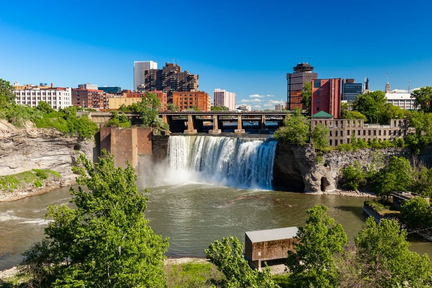 Waterfall near downtown Rochester, New York