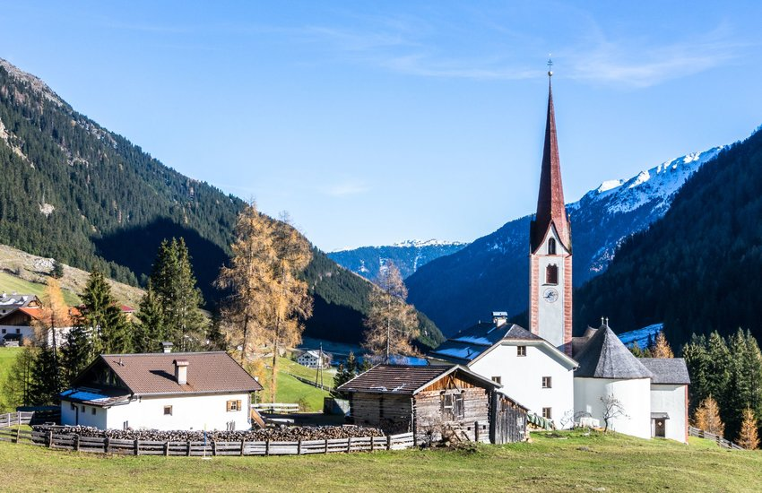Church in mountains of St. Sigmund im Sellrain