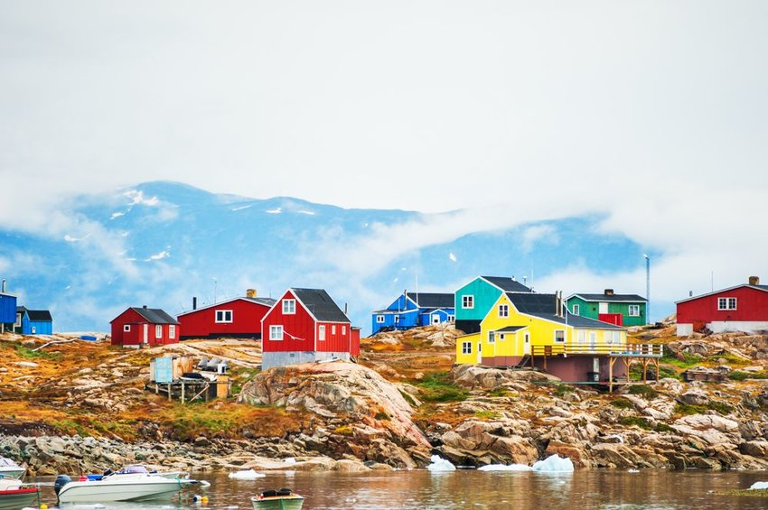 Colorful houses on the coast