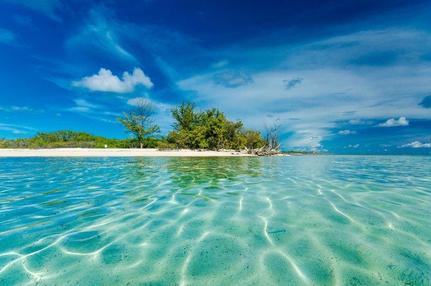 Clear water at Bimini, Bahamas