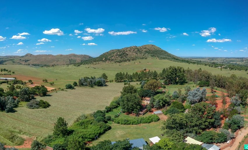 Aerial shot of the mountain in the Cradle of Humankind, South Africa