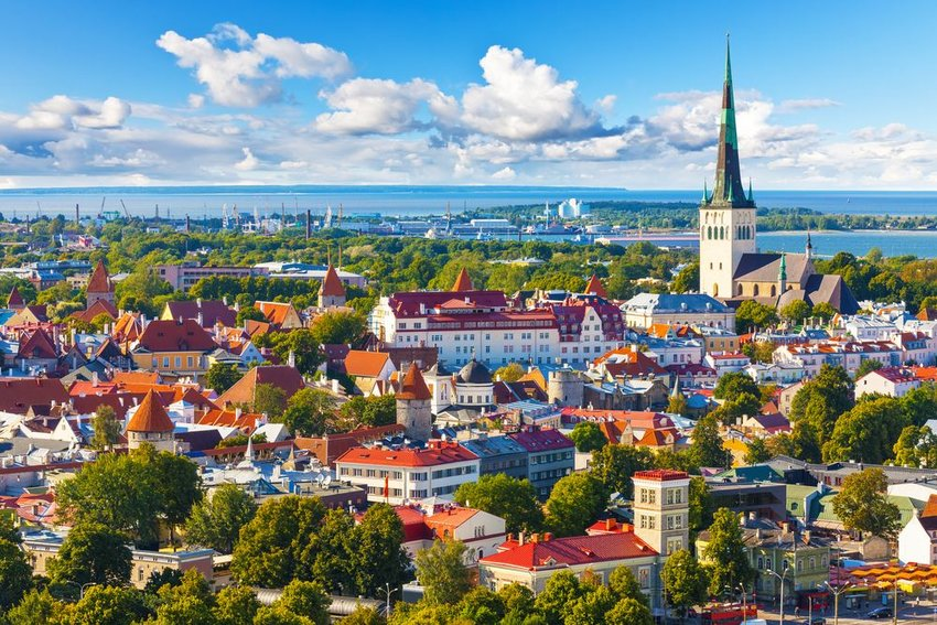 Aerial view of Tallinn, Estonia