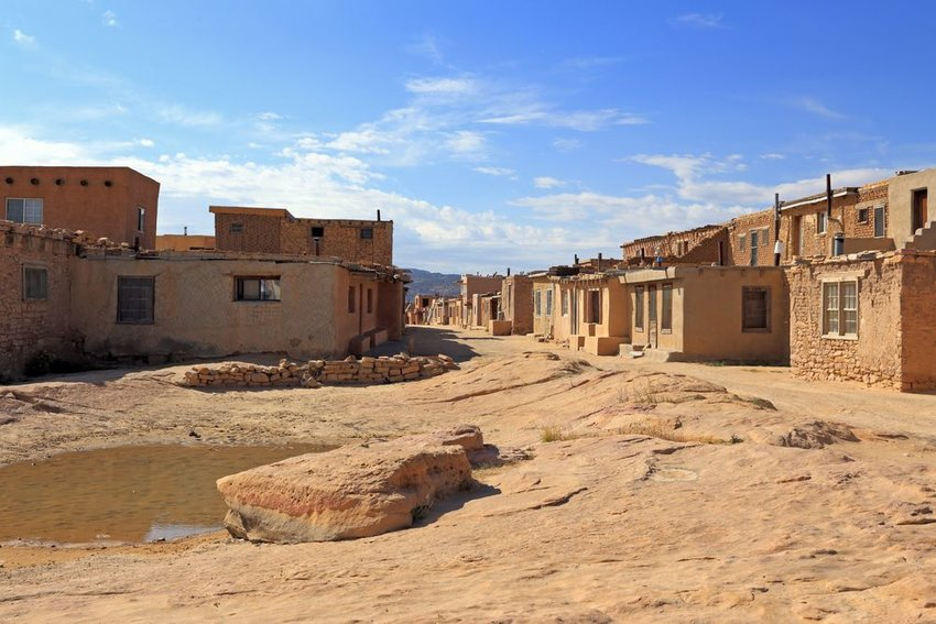 A street in the Acoma Pueblo, or Sky City, outside of Albuquerque, NM