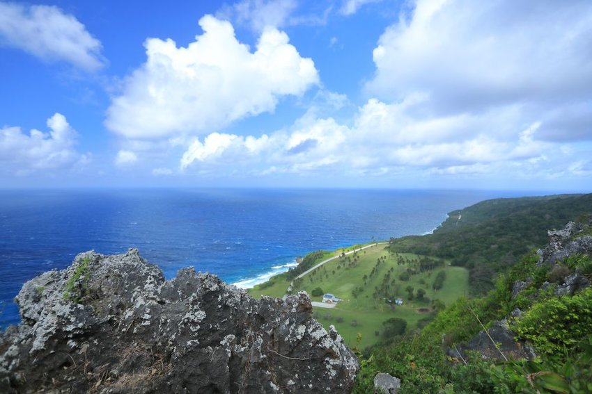 View from above Christmas Island