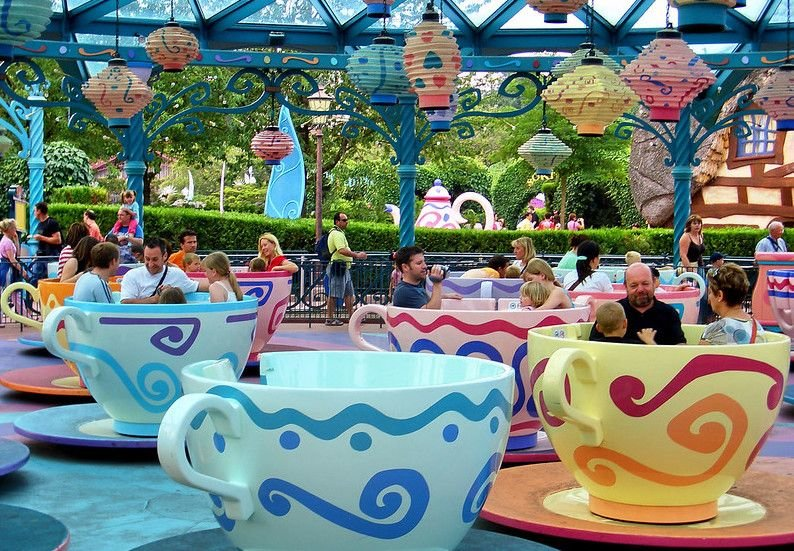 The teacups ride at Disneyland