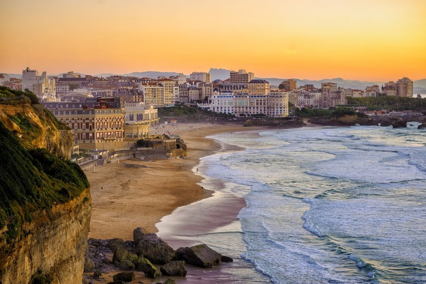 Beaches in Biarritz, France