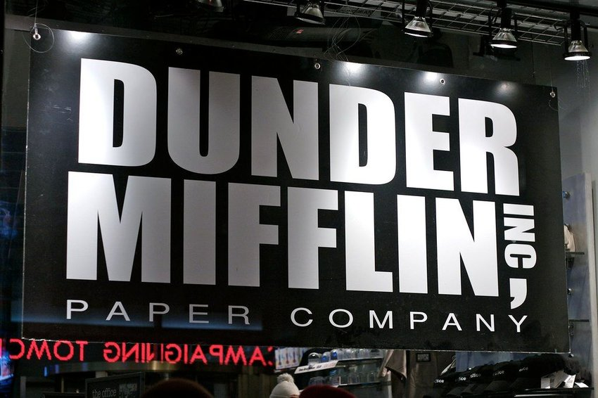 Poster of the fictional Dunder Mifflin Paper Company