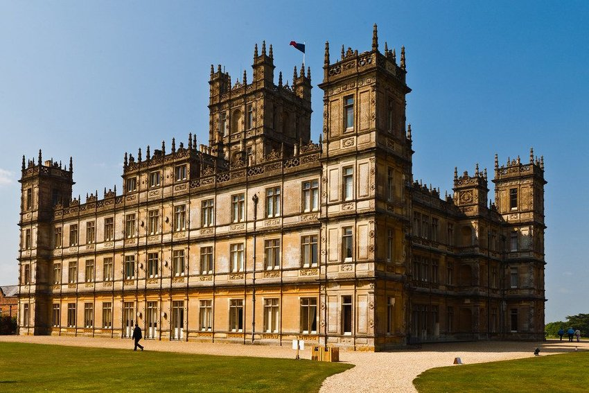 "Highclere Castle, filming location for ""Downton Abbey"""