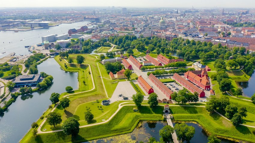 Star-shaped island with the Kastellet fort in Copehagen