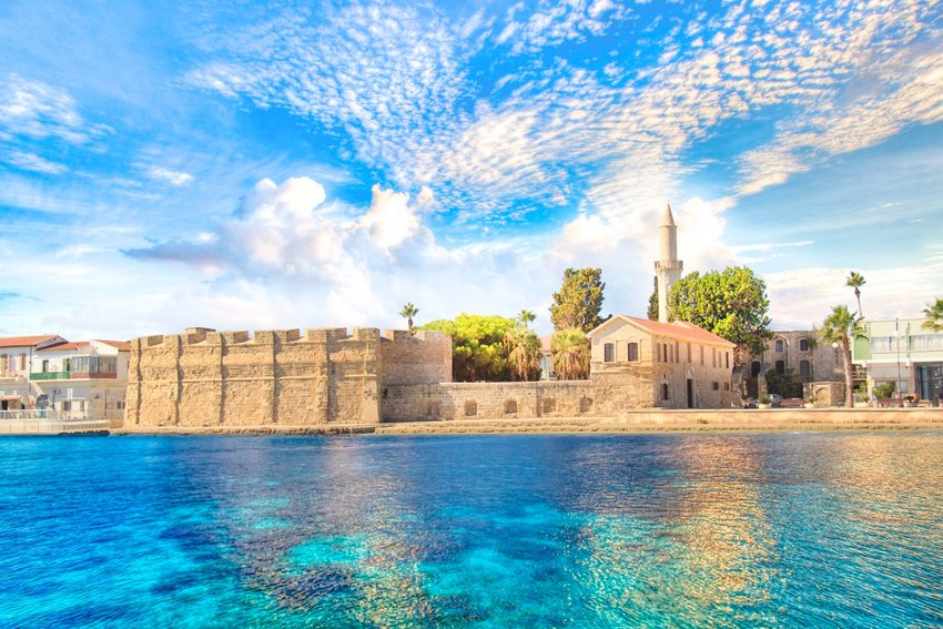 The castle of Larnaca on the island of Cyprus