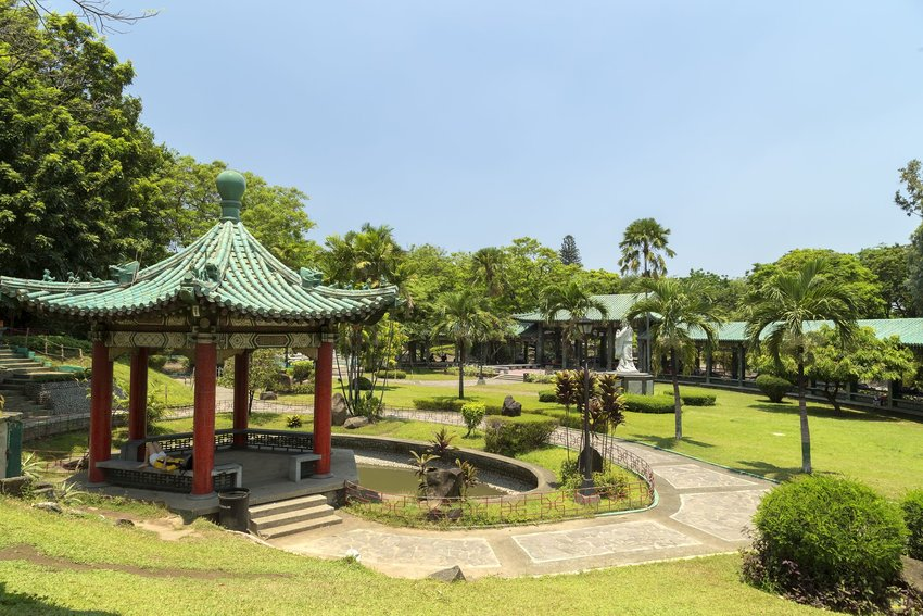 Rizal Park's Chinese garden in Manila, Philippines