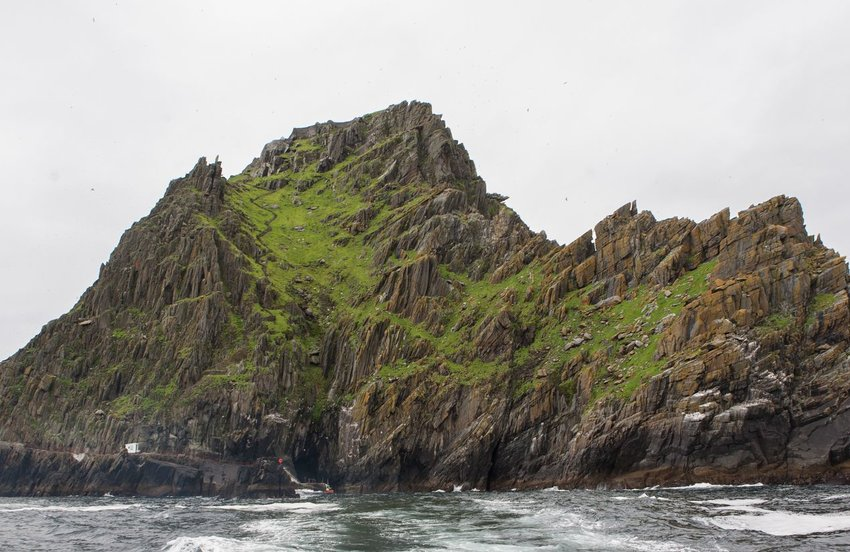 The island Skellig Michael, used as Luke Skywalker's hiding place in The Force Awakens