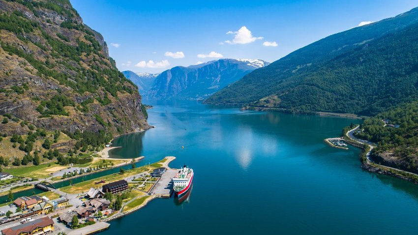Cruise off the coast of Flam Village, Norway
