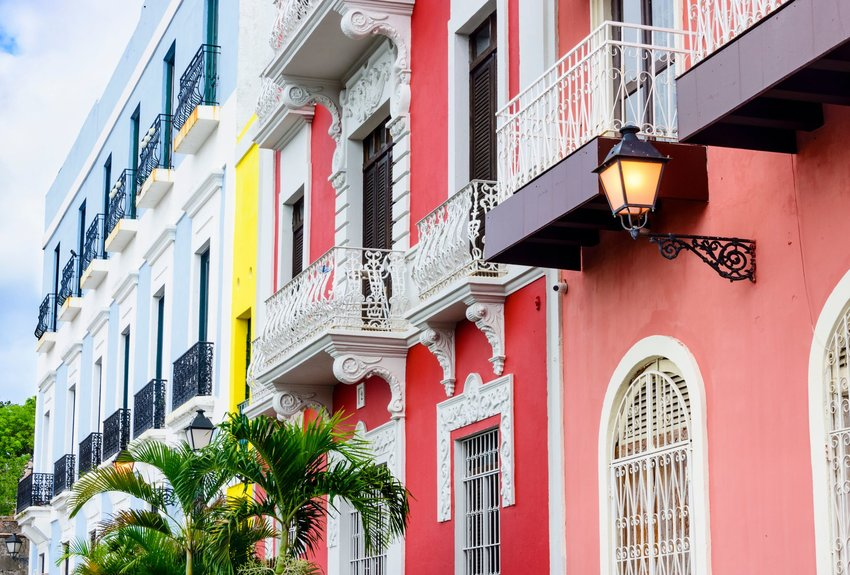 Colorful homes in Old San Juan