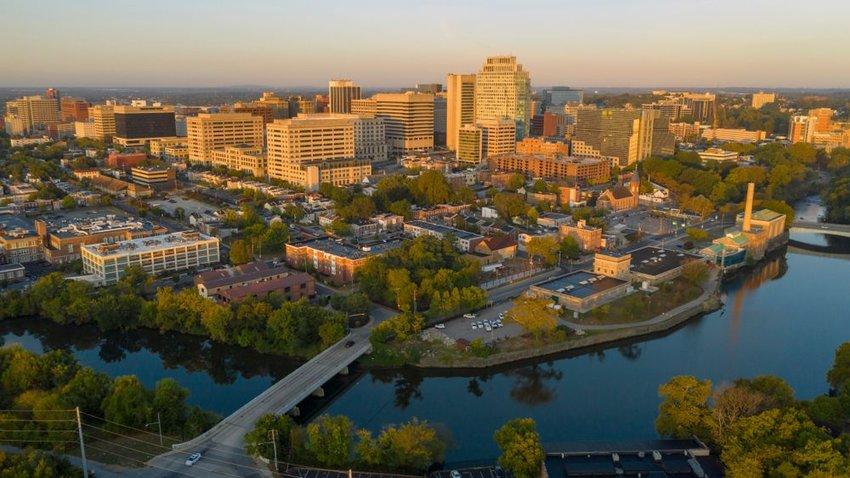 Aerial view of Delaware