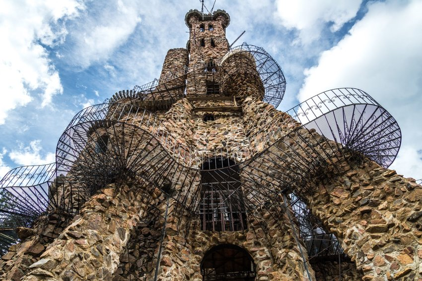 The unusual stone and metal Bishop Castle in San Isobel National Park in Colorado.