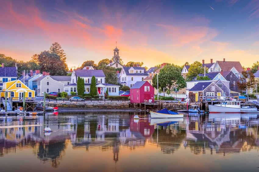 Boats in harbor in New Hampshire