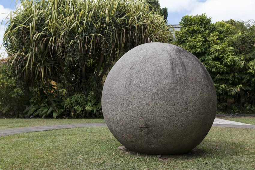 Stone sphere in Costa Rica
