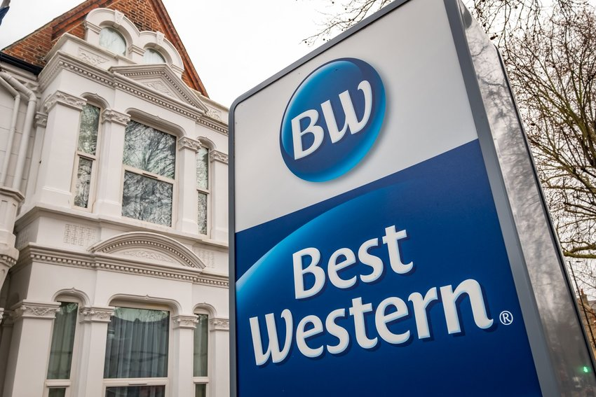 Best Western sign and building in London