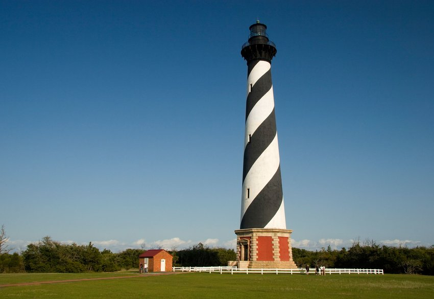 Cape Hatteras Lighthouse and visitors