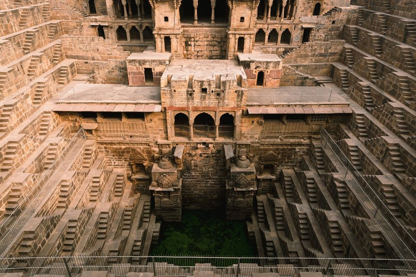 Chand Baori stepwell from above