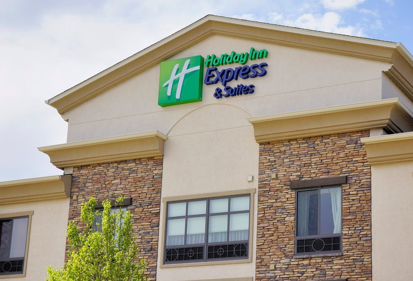 Holiday Inn Express & Suites building with signage