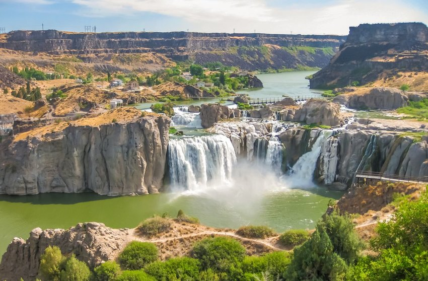 Aerial view of Shoshone Falls