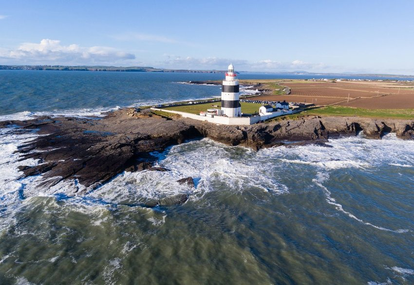 Aerial view of Hook Head Lighthouse