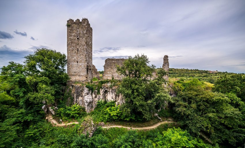 Castle ruins in Momjan, Croatia