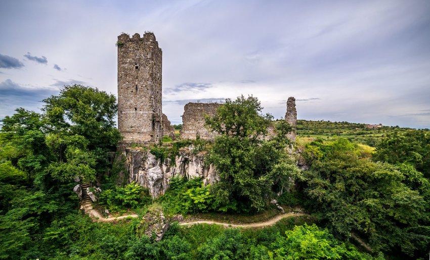 Castle ruins in Momjan, Croatia