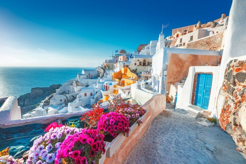 Walkways of Santorini