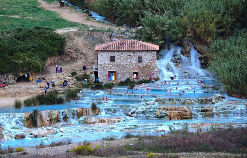 Thermal baths in Saturnia