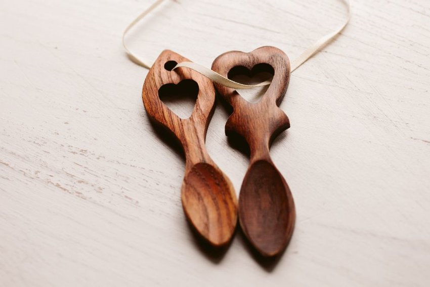 Heart shaped spoons