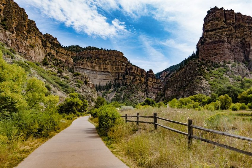 Trail through Glenwood Canyon