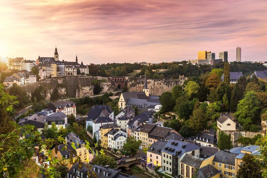 City of Luxembourg from above