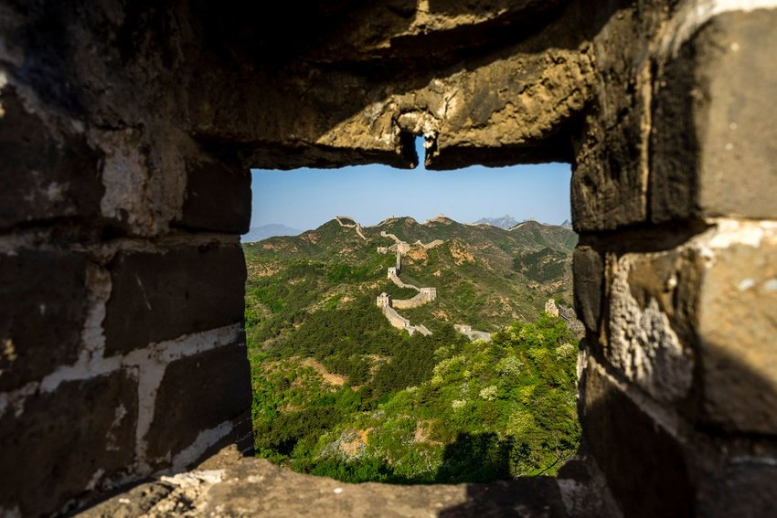 Mortar on the Great Wall of China
