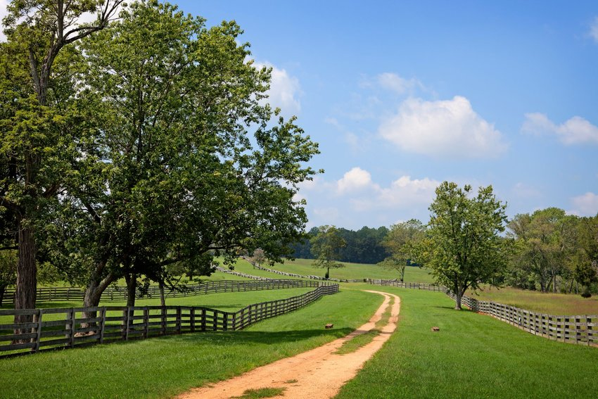 Country lane at Appomattox Court House National Park