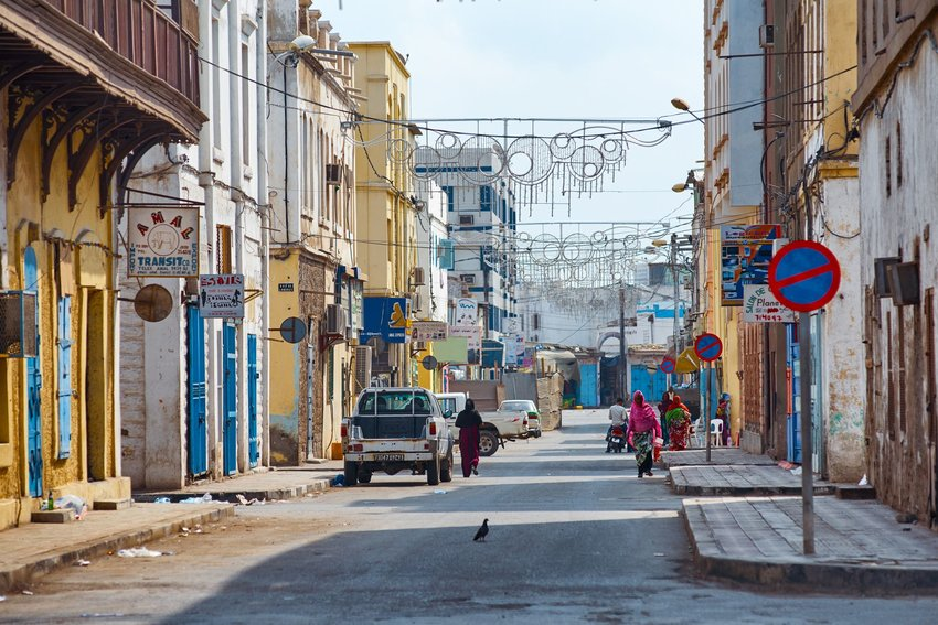 Busy street in Djibouti