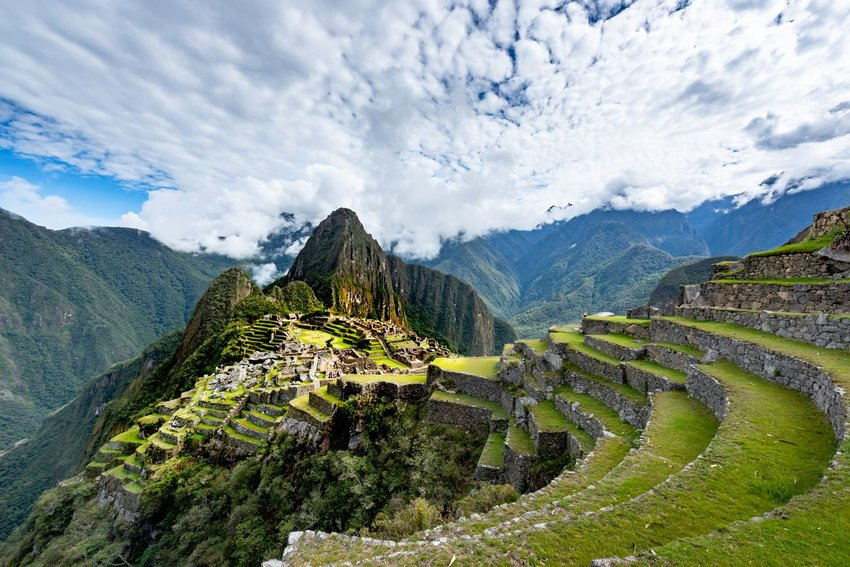 Machu Picchu on a cloudy day